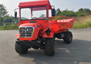 All Terrain 30HP Mini Articulated Dump Truck 22kw 2 Ton Capacity Strenthed Chassis