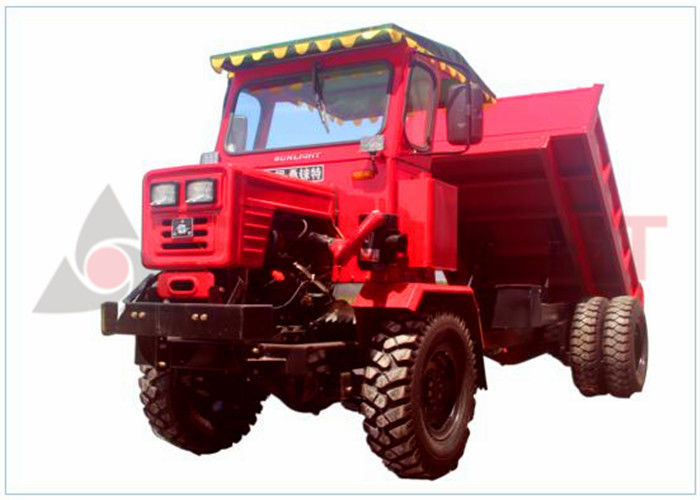 Electronic Starter Articulated Tipper Truck , Articulated Haul Truck Red Color supplier