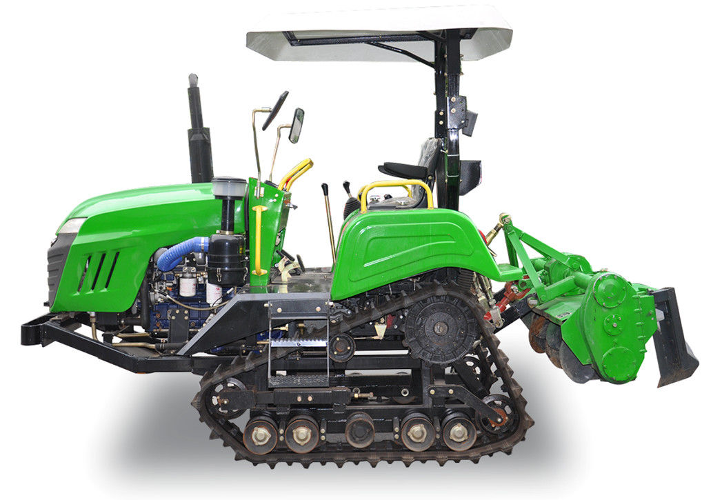 Rice Field Mini Crawler Tractor With Pto , Electronic Starter 2780*1480*2250mm supplier