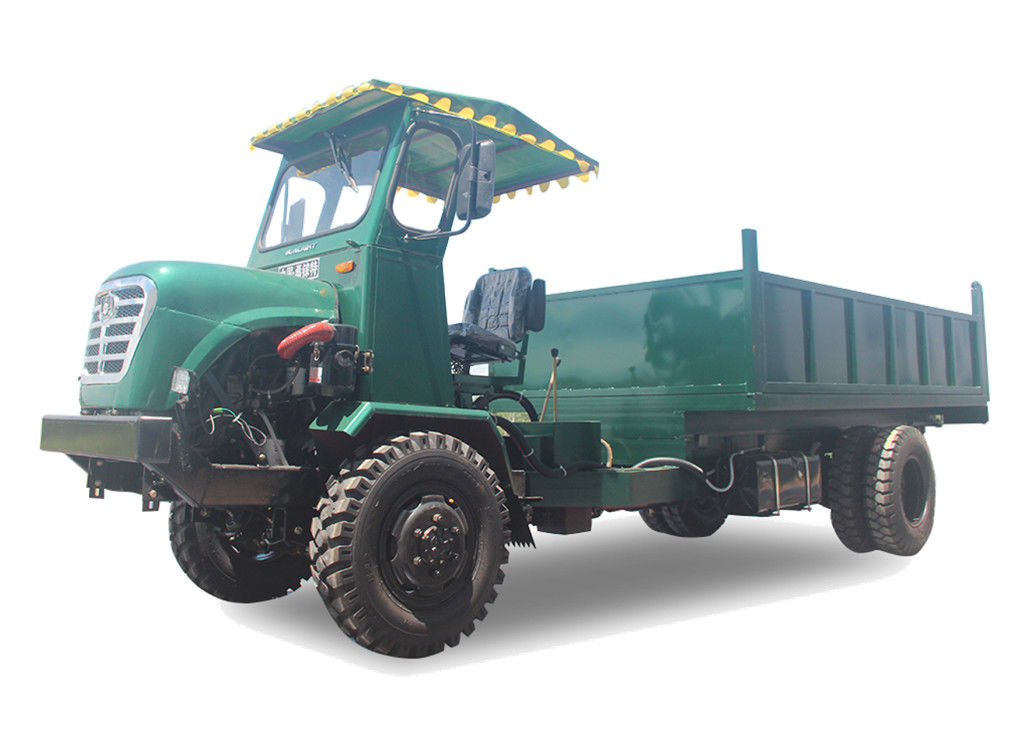 Articulated Chassis Four Wheel Drive Dump Truck / Small Tipper Truck 50HP Air Brake supplier