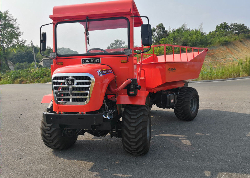 All Terrain 30HP Mini Articulated Dump Truck 22kw 2 Ton Capacity Strenthed Chassis supplier