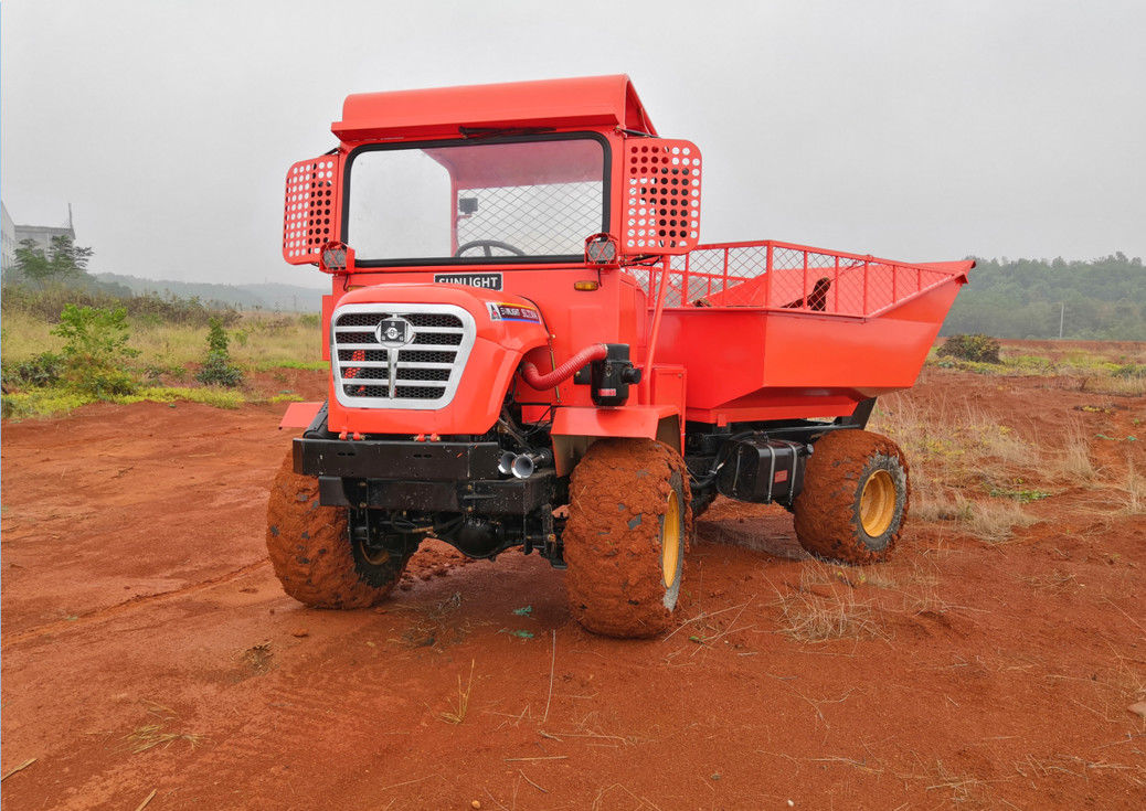 Light Weight Mini Articulated Dump Truck Full Hydraulic Steering 30HP For Oil Palm supplier