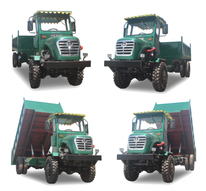 13.2kw Electric Tipper Truck , One Ton Dump Truck Articulated Chassis 3