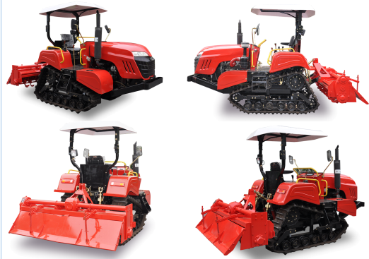350mm Rubber Track Crawler Farm Tractor With Zero Turning Radius Easy Operation 1