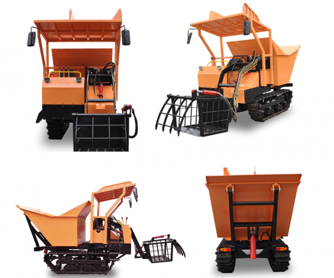 Agriculture Farm Equipment Mini Crawler Dumper small carrier Hydrostatic Transmission 0